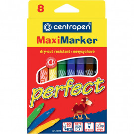 Фломастери Centropen Perfect Maxi 8 кольорів, 8610-08, 01762