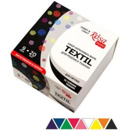 Набір акрилових фарб для розпису тканин 9 кольорів по 20 мл Rosa Talent, 134920