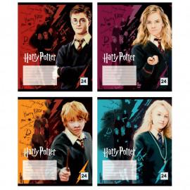 Зошит шкільний А5 Kite Harry Potter 24 аркуші клітинка HP20-238, 44859