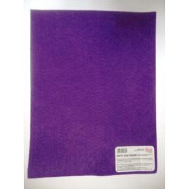 Фетр листковий (поліестер) 21,5х28 см фіолетовий темний 180 г/м2 Rosa Talent, 953695