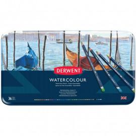 Набір акварельних олівців Derwent Watercolour 36 кольорів металевий пенал, 32885