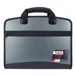 Портфель А4 Axent 4 відділення сірий металік 1621-11-A, 20685