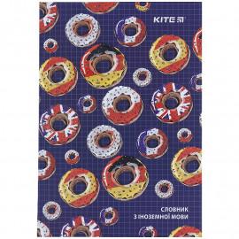 Словник для запису іноземних слів 60 аркушів Kite Donuts K21-407-2, 48467