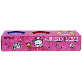 Тісто для ліпки кольорове 3 кольори по 75 грам Kite Hello Kitty HK21-151, 47724