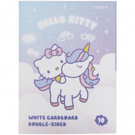 Картон білий двосторонній А4 10 аркушів Kite Hello Kitty HK21-254, 47185