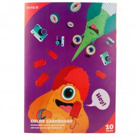 Картон А4 кольоровий двосторонній 10 аркушів Kite Jolliers K19-255, 40967
