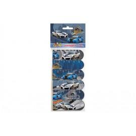 Закладки магнитные 6 штук Street racing Kidis, 7069, 151069