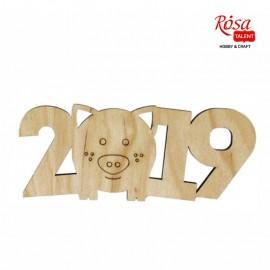 Заготовка Свинка 2019 № 1, 15*6 см, фанера, ROSA Talent, 4801641