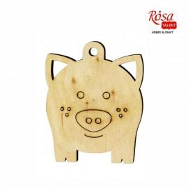 Заготовка Свинка, 5,7*7 см, фанера, ROSA Talent, 4801642