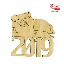 Заготовка Свинка 2019 № 2, 10*10 см, фанера, ROSA Talent, 4801643