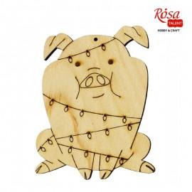 Заготовка Свинка в гирлянде, 7,9*10 см, фанера, ROSA Talent, 4801644