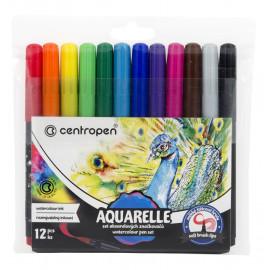 Набір акварельних маркерів-пензликів Centropen 12 кольорів 8683, 42501