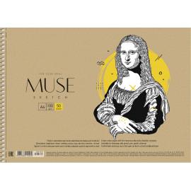 Альбом для ескізів А4 50 аркушів спіраль 100 г/м2 Muse Школярик, 210200