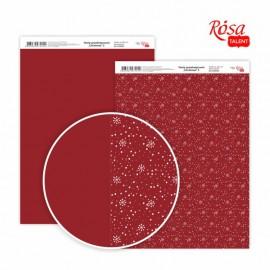 Бумага для дизайна Christmas двусторонняя 21*29,7 см 250 г/м2 ROSA Talent, 5310065