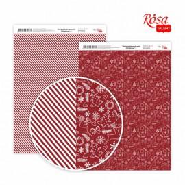 Бумага для дизайна Christmas двусторонняя 21*29,7 см 200 г/м2 ROSA Talent, 5318036