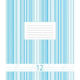 Зошит шкільний 12 аркушів коса лінія Графіка 5В212С, 4002031