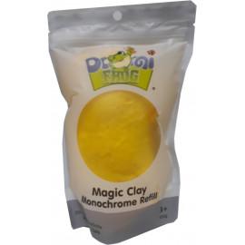 Пластилін повітряний моделін жовтий 100 грам Pasco Domi frog Magic Cllay MC-011, 9060328