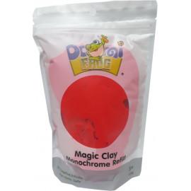 Пластилін повітряний моделін червоний 100 грам Pasco Domi frog Magic Cllay MC-011, 9060380