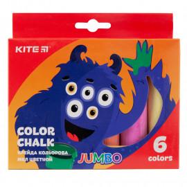 Крейда кольорова Jumbo Kite Jolliers 6 кольорів K19-073, 40280