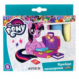 Крейда кольорова Jumbo Kite My Little Pony 6 кольорів LP19-073, 40282