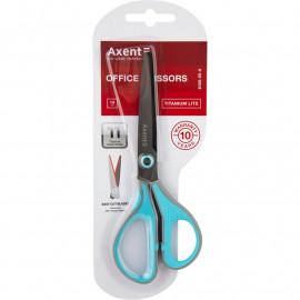Ножиці Titanium Lite з прогумованими ручками сіро-блакитні 19 см Axent 6406-05-A, 45424
