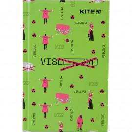 Блокнот А6 80 листов клетка твердая обложка Kite Время и Стекло, VIS19-199-4, 42733