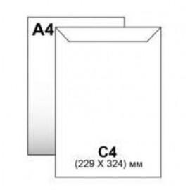 Конверт С4 Україна 229х324 мм білий з клеєвою стрічкою, 280129