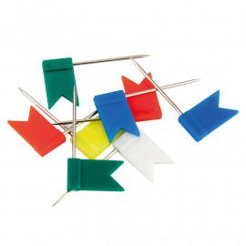 Кнопки-цвяшки кольорові прапорці 30 шт / уп, Axent, 4215-A, 36768
