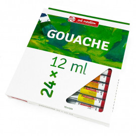 Набір гуашевих фарб ArtCreation 24 кольори по 12 мл Royal Talens, 9021624