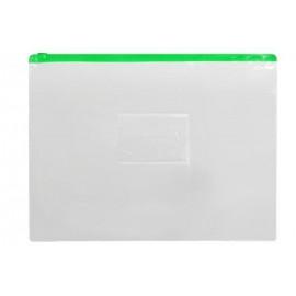 Папка А4 пластикова на блискавці zip-lock 140 мкм колір асорті, ООПТ 3033, 111964