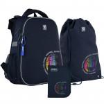 Рюкзак шкільний каркасний з пеналом сумкою для взуття Kite Football SET_K21-531M-6, 48350
