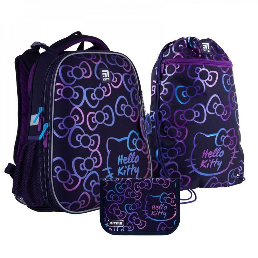 Рюкзак з наповненням пенал сумка для взуття Kite Hello Kitty SET_HK21-531M, 48343