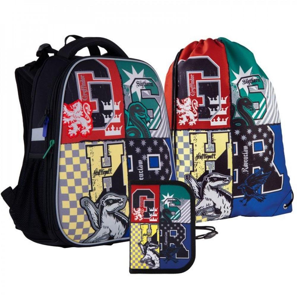 Рюкзак з наповненням пенал сумка для взуття Kite Harry Potter SET_HP21-531M, 48341