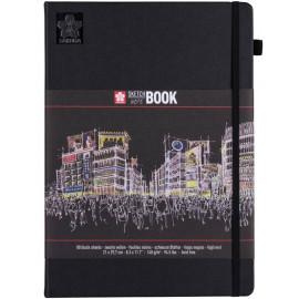 Блокнот Sakura Sketch А4 21х29,7 cм чорний папір сторінок 80 аркушів 140 г/м, 94141005