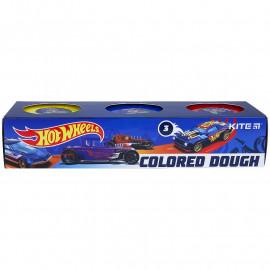 Тісто для ліпки кольорове 3 кольори по 75 грам Kite Hot Wheels HW21-151, 47726