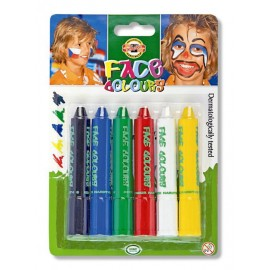 Фарби для гриму Koh-i-noor Standart colors 6 кольорів, 02131