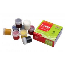 Набір гуашевих фарб 9 кольорів по 20 мл Rosa Studio, 221544