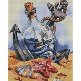 Картина алмазна мозаїка Secrets of the sea 40х50 см Ідейка АМ6063, 324126