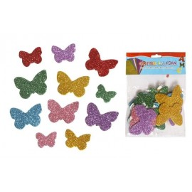 Наліпки EVA з глітером метелики, ООПТ 8850, 145686