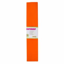 Папір креповий 110% помаранчевий 50х200 см 1Вересня, 701534