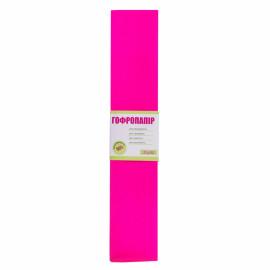 Папір креповий 55% рожевий темний 50х200 см 1Вересня, 701518
