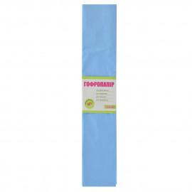 Папір креповий 55% блакитний 50х200 см 1Вересня, 705548