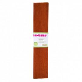 Папір креповий 55% коричневий 50х200 см 1Вересня, 701524