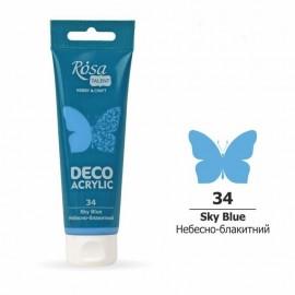 Акрил для декора небесно-голубой матовый 75 мл Rosa Talent, 322234