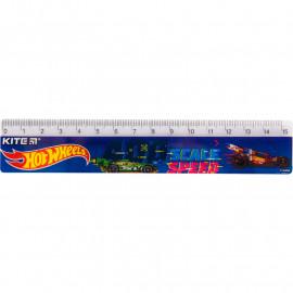 Лінійка пластикова Kite Hot Wheels 15 см HW19-090, 40609