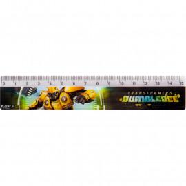 Лінійка пластикова Kite Transformers BumbleBee Movie 15 см TF19-090, 40610