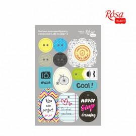 Набір вирубок для скрапу самоклеящихся Be in color 2 картон 12,8х20 см ROSA Talant, 9406082