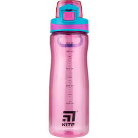 Пляшечка для води Kite 650 мл рожева K20-395-01, 44143
