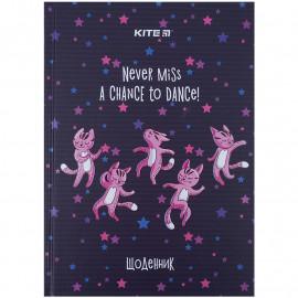 Щоденник шкільний тверда обкладинка Kite Dancing cats K21-262-5, 48440
