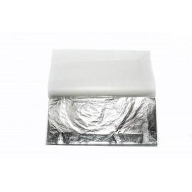 Поталь вільна срібло імітація в аркушах 16х16 см 20 аркушів Nazionale, 9715002